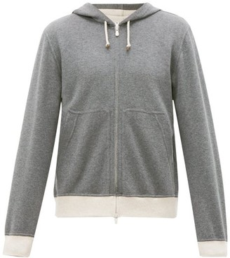 Brunello Cucinelli Zip-through Cotton-blend Hooded Sweatshirt - Charcoal