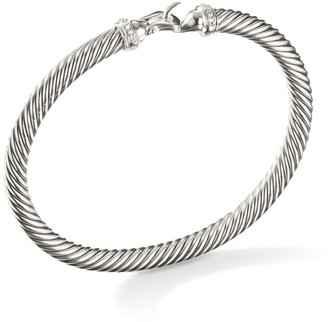 David Yurman Cable Buckle Bracelet with Diamonds/5mm