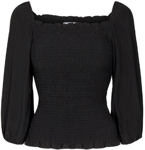 Co'couture - Adore Top - viscose | black | M . - Black/Black