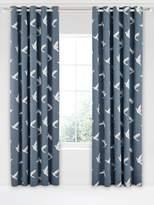 Sanderson Paper Doves 66X90 Blue Curtains