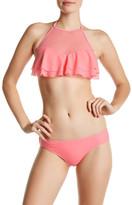 Betsey Johnson Ruffle Tiered Bikini Halter Top