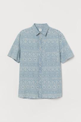 H&M Patterned denim shirt