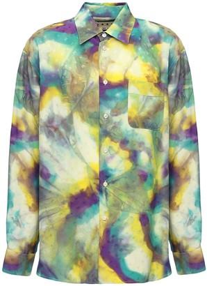 Marni Tie Dyed Viscose Jacquard Shirt