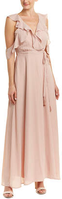 BB Dakota Rsvp Cold-Shoulder Maxi Dress