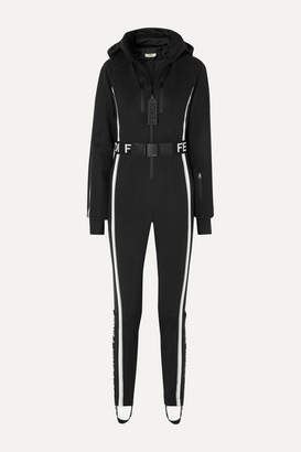 Fendi Belted Striped Ski Suit - Black