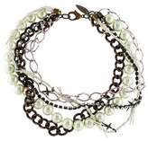 Fallon Faux Pearl & Crystal Multistrand Necklace
