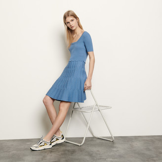 Sandro Knit dress with square neckline