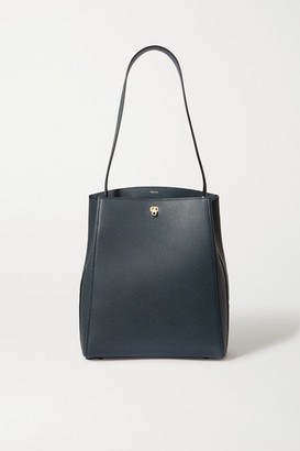 Valextra Brera Textured-leather Shoulder Bag - Navy