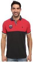 U.S. Polo Assn. Sporty Short Sleeve Color Blocked Polo Shirt
