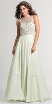 Dave and Johnny Beaded Illusion Keyhole Back Prom Dress