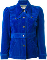 Marc Jacobs velvet cropped jacket - women - Cotton/Polyester/Viscose - M
