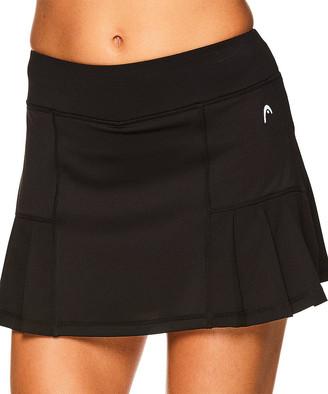 Head Women's Casual Skirts BLACK - 13'' Black Pleated Skort - Women