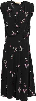 Vanessa Bruno Wrap-effect Floral-print Crepe Midi Dress