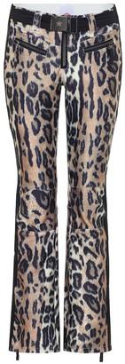 Jet Set Tiby leopard-print shell ski pants