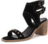 Mollini Deedee Black Suede/Natural Heel
