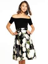 AX Paris 2-in-1 Bardot Midi Dress
