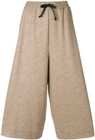 Maison Margiela wide leg track pants - women - Silk/Cotton/Polyamide/Virgin Wool - 40