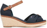 Tommy Hilfiger peep toe wedges - women - Cotton/Leather/Tactel/rubber - 38