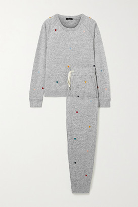 Rails Mika Oakland Embroidered Knitted Pajama Set - Gray