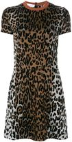 Stella McCartney cheetah print jacquard dress - women - Silk/Polyamide/Viscose/Wool - 40