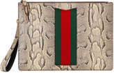 Gucci Python men's bag with Web