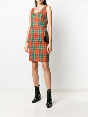 2000s Pre-Owned Tartan Short Dress