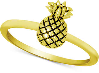 Kona Bay Pineapple Ring in Gold-Plate