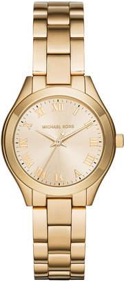 MICHAEL Michael Kors 33mm Slim Runway Bracelet Watch, Golden