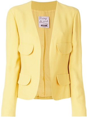 Moschino Pre-Owned Flap-Pocket Collarless Jacket