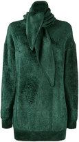 Balenciaga Headscarf crew neck sweater - women - Nylon/Polyamide/Viscose/Virgin Wool - 40