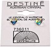 Crystallite Destine Vitrail Medium Cube Earrings 4mm