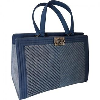 Chanel Boy Tote Blue Denim - Jeans Handbags