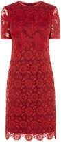 Karen Millen Lace Pencil Dress - Red/multi