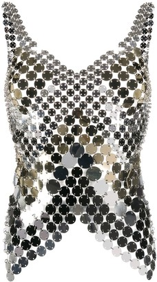 Paco Rabanne Embellished Fitted Tank Top