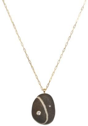 Cvc Stones Wizard Diamond & 18kt Gold Necklace - Black