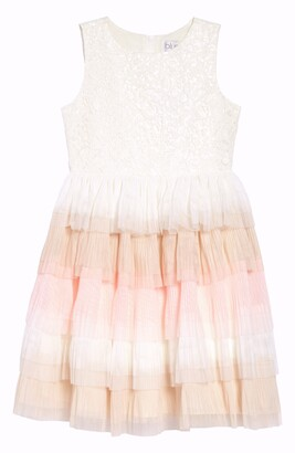 Blush by Us Angels Sleeveless Ruffle Dress