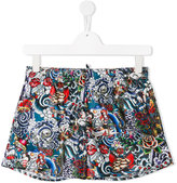 DSQUARED2 printed swim shorts - kids - Polyester - 14 yrs