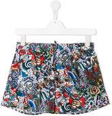 DSQUARED2 printed swim shorts - kids - Polyester - 16 yrs