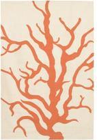 Thomas Paul Rugs Coral Dhurrie in Cream and Orange