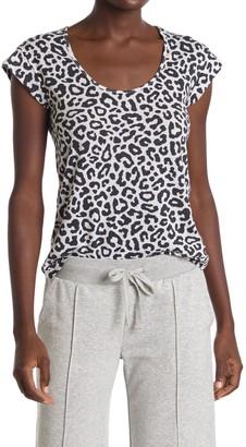 Alternative Eco Scoop Neck Cap Sleeve Leopard Print Sleep T-Shirt