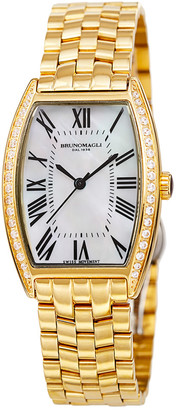 Bruno Magli Women's Stainless Steel Diamond Watch