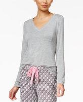 Alfani V-Neck Knit Pajama Top, Only at Macy's