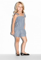 Milly Minis Chambray Tie Romper