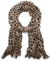 Sole Society Leopard Print Oversized Scarf