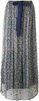 Twin-Set floral print sheer skirt - women - Cotton/Viscose - XS