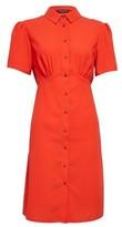 Dorothy Perkins Womens Orange Empire Seam Shirt Dress, Orange