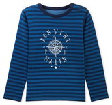 Petit Bateau Boys striped T-shirt with placement design