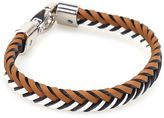 Tod's Two-tone Woven Leather Bracelet