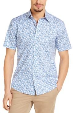 Michael Kors Men's Slim-Fit Stretch Tropical Print Shirt