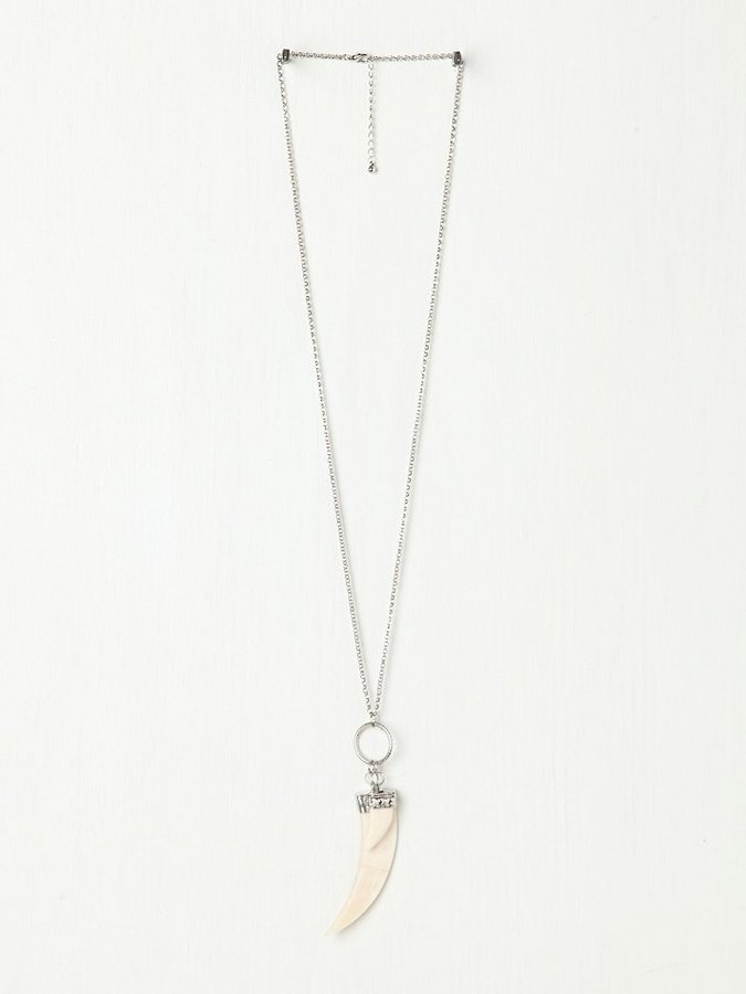 Free People Double Horn Pendant